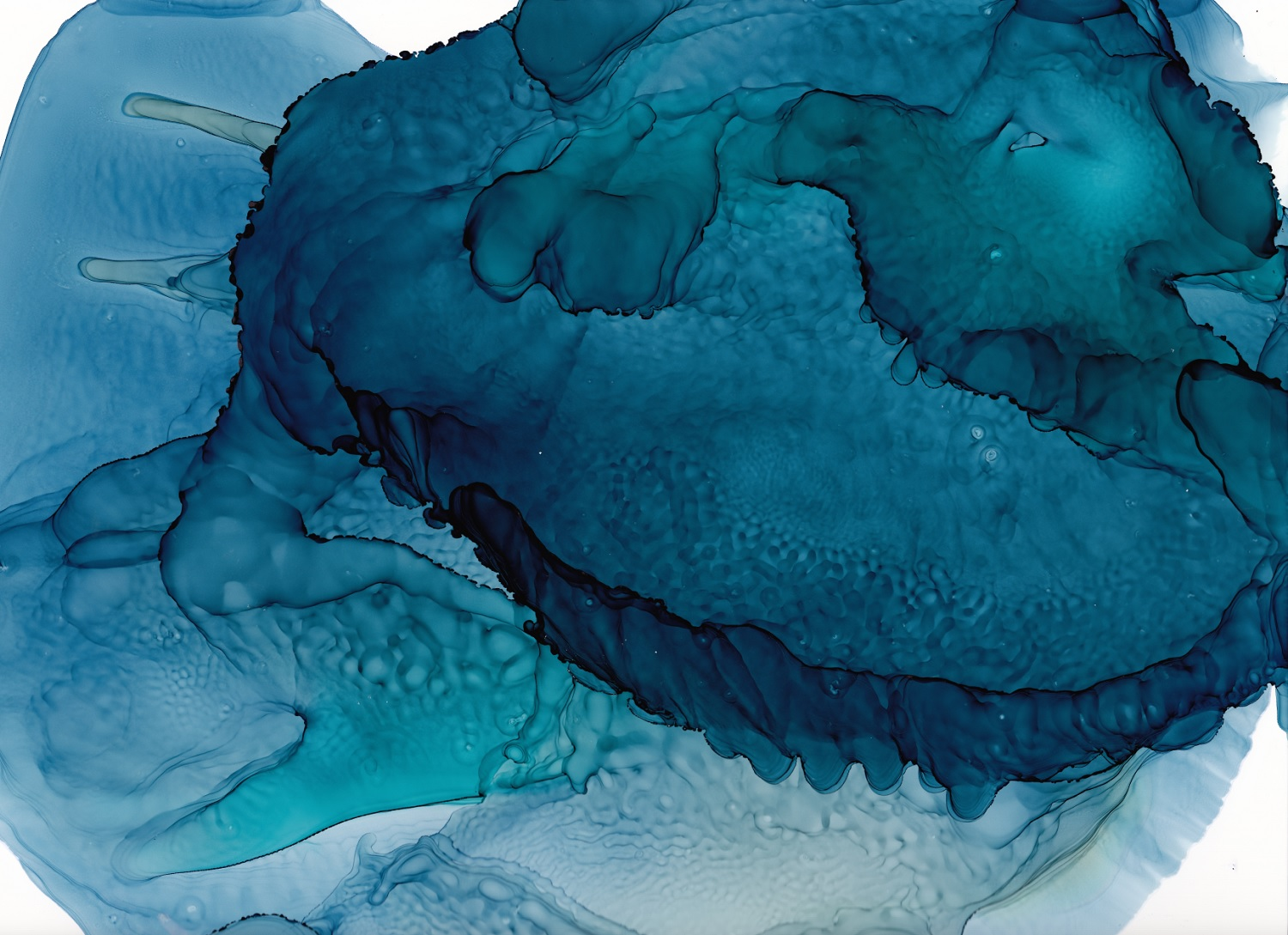 teal blue abstract art