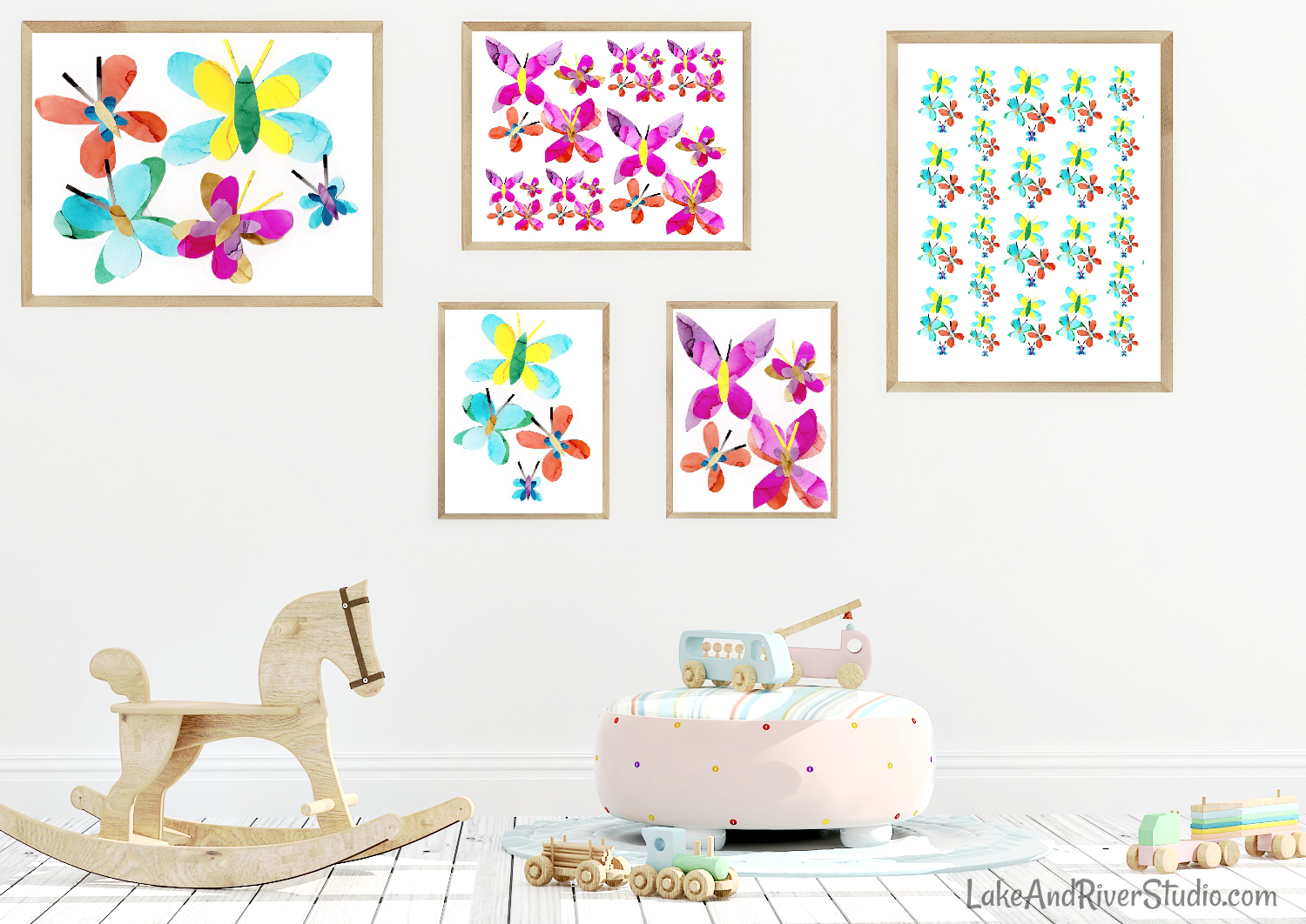colorful butterfly art prints