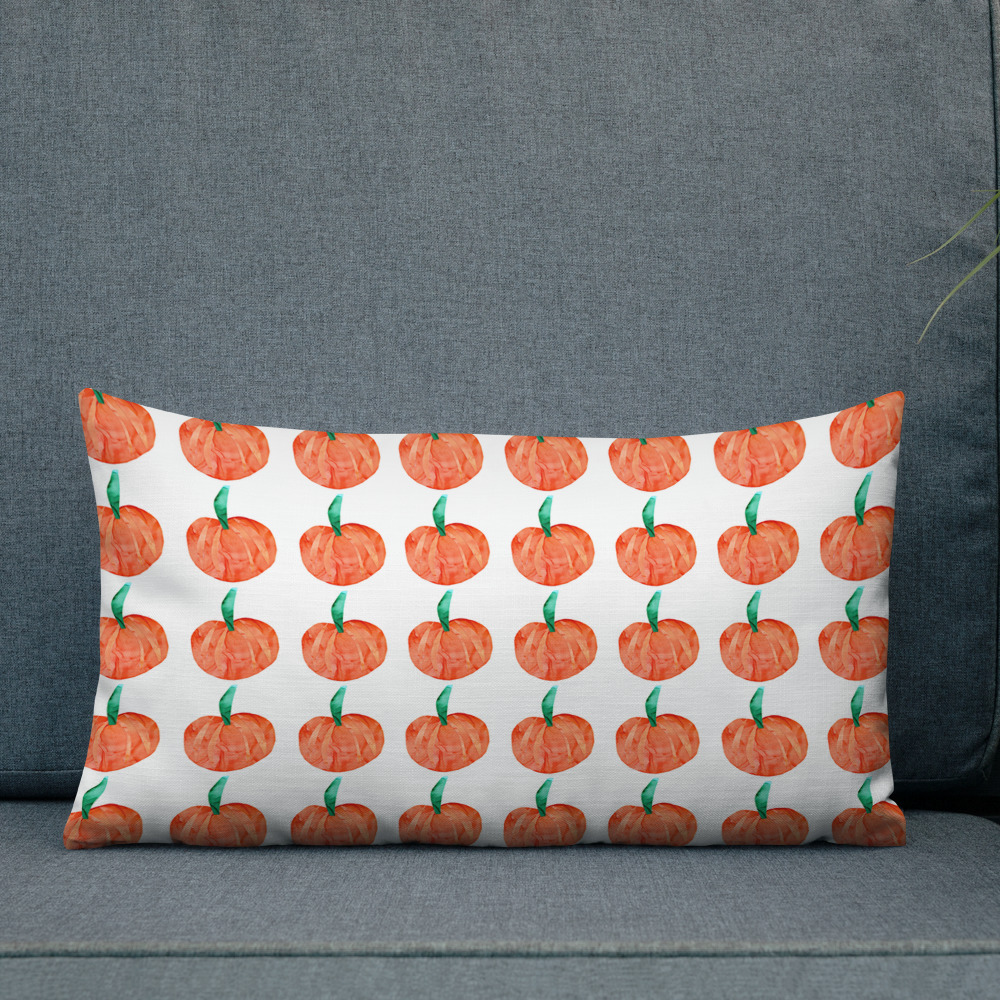 pumpkin pattern printed pillow