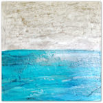 textured seascape art on canvas