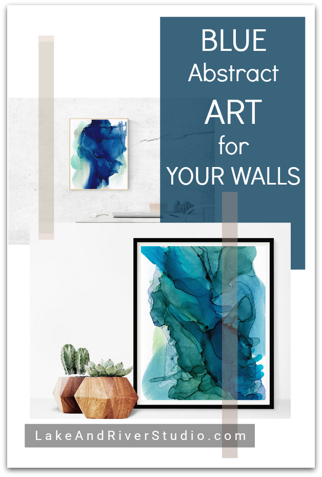Blue Abstract Art for Decorating Your Walls