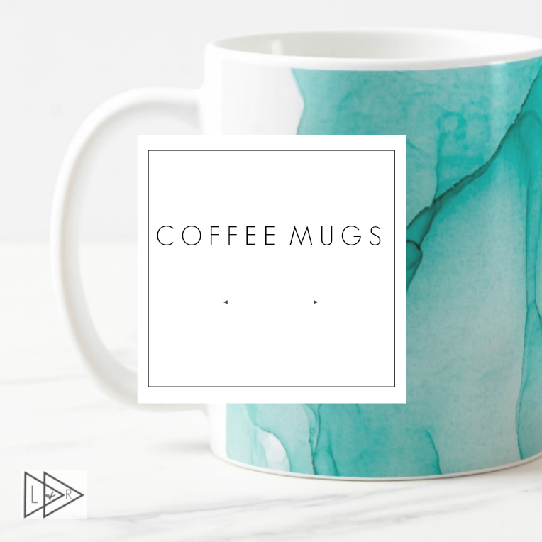 quirky art print mugs