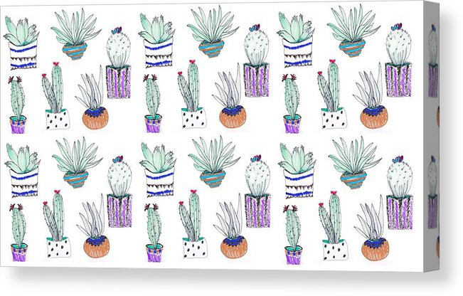 cactus sketch pattern art print