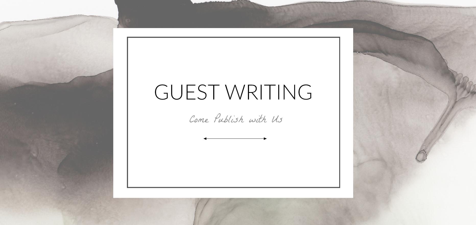 artist guest blogging
